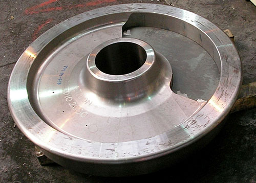 Calibration wheel with artificial defects for establishing DAC curve